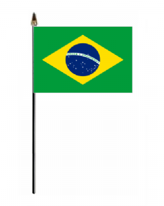 Brazil Country Hand Flag - Small.